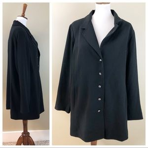 NEW DIALOGUE 18W BLACK LINED JACKET